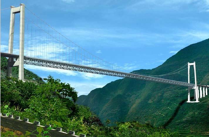 ~ Dos grúas al filo del Puente Balinghe